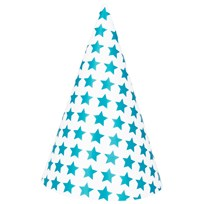My Little Day 8 Party Hats - Blue Stars Blue Stars