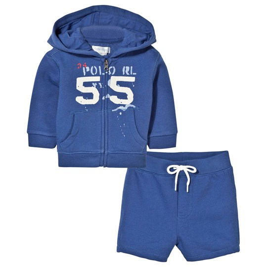 Ralph Lauren Fleece 2-Piece Set Marquis Blue Marquis Blue