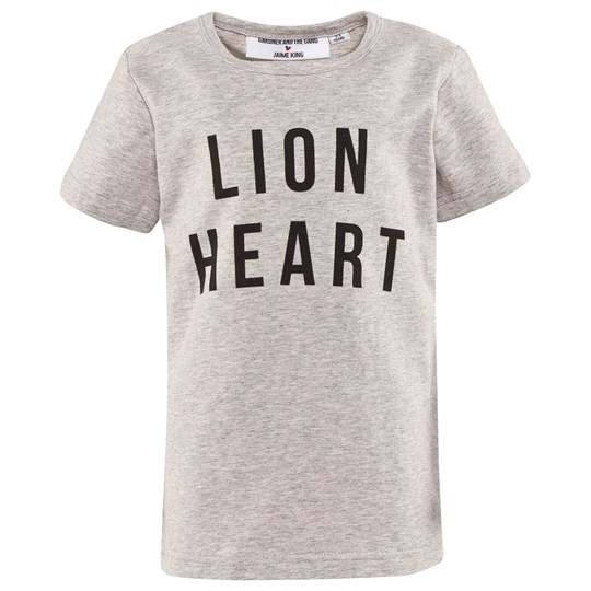 Gardner and the gang The Lion Heart Tee Heather Grey Grey