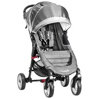 Baby Jogger City Mini 4-Wheel Steel/Grey stålgrå