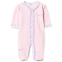 Kissy Kissy Elegant Ellie´s Velour Footed Baby Body Pink Pink