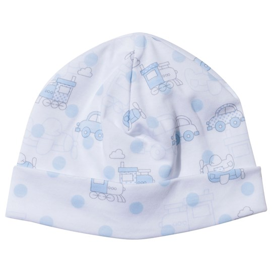 Kissy Kissy Polka Dot Transport Hat White/Light Blue White/Light Blue