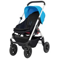 EasyWalker JUNE Stroller with Bag Blue Black / Blue