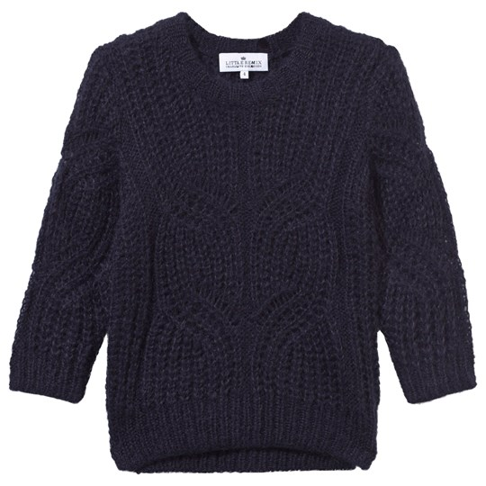 Little Remix Jr Magdalena Mohair Sweater With Artwork Navy Navy