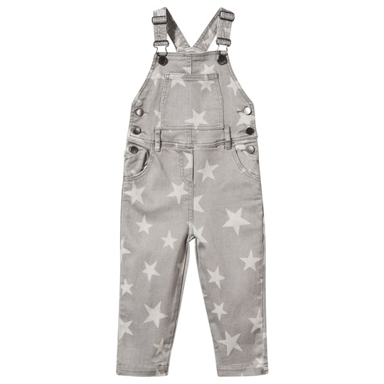 Stella McCartney Kids Rudy Overall Denim Stars Grey Denim