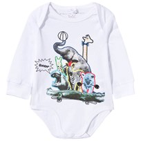 Stella McCartney Kids Eckles Animal Collage Baby Body Ghost Ghost