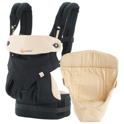 Ergobaby Four Position Bundle of Joy 360 Baby Carrier Black and Camel
