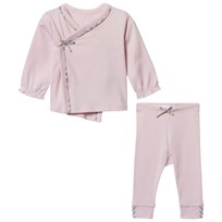 Burberry Two-Piece Cotton Baby Gift Set Powder Pink Powder Pink