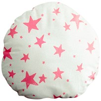 Noe & Zoe Berlin ircle Pillow in Neon Pink Stars NEON PINK STARS