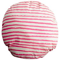 Noe & Zoe Berlin Circle Pillow Neon Pink Stripes neon pink stripes