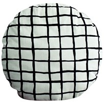 Noe & Zoe Berlin Circle Pillow Black Grid black grid