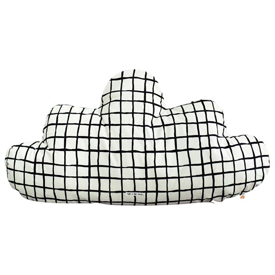 Noe & Zoe Berlin Large Cloud Pillow Black Grid black grid