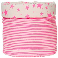 Noe & Zoe Berlin Medium Storage Basket Pink Stars & Stripes pink stars & stripes