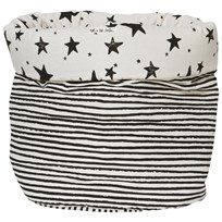 Noe & Zoe Berlin Medium Storage Basket in Black Stars & Stripes black stars & stripes