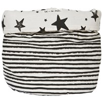Noe & Zoe Berlin Large Storage Basket Black Stars & Stripes black stars & stripes
