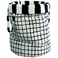 Noe & Zoe Berlin Storage Basket L Black Grid & Black Stripes XL black grid & black stripes XL