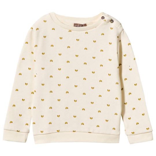 Emile et Ida croissant Sweat Shirt Natural naturel (all over croissant)