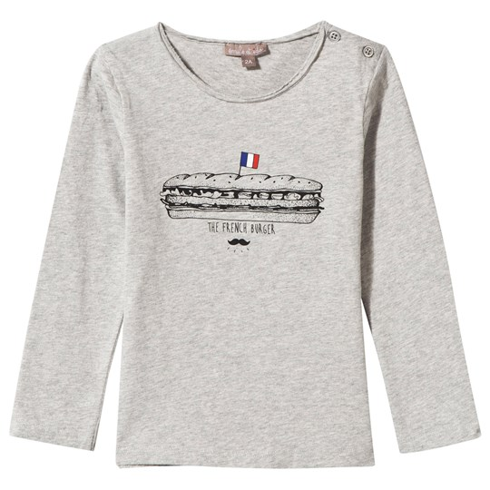 Emile et Ida Long Sleeve Tee French Burger Gris Chiné gris chiné (French burger)