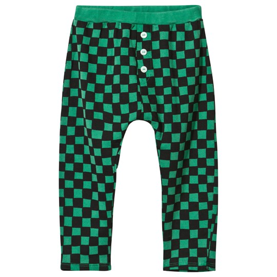 Bobo Choses Baby Tracksuit Pants Checked Deep Green Deep Green