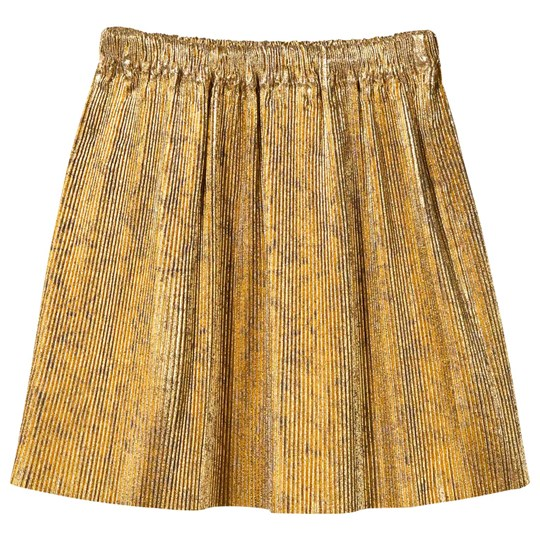 Bobo Choses Golden Pleated Skirt Golden