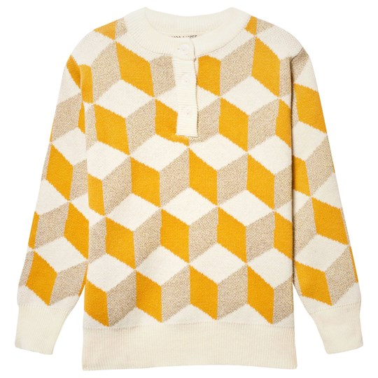 Bobo Choses Op Art Knitted Sweater Yellow Yellow