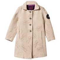 Bobo Choses Woven Coat Bunnies Beige