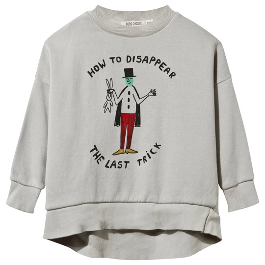 Bobo Choses Sweatshirt The Illusionist Silver Grey