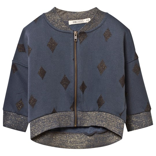 Bobo Choses Diamond Sky Loose Zip Sweatshirt Phantom
