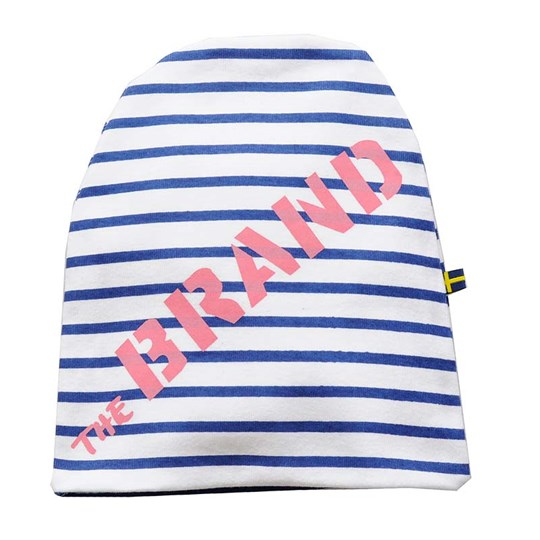 The BRAND Hat Blue Striped Blue
