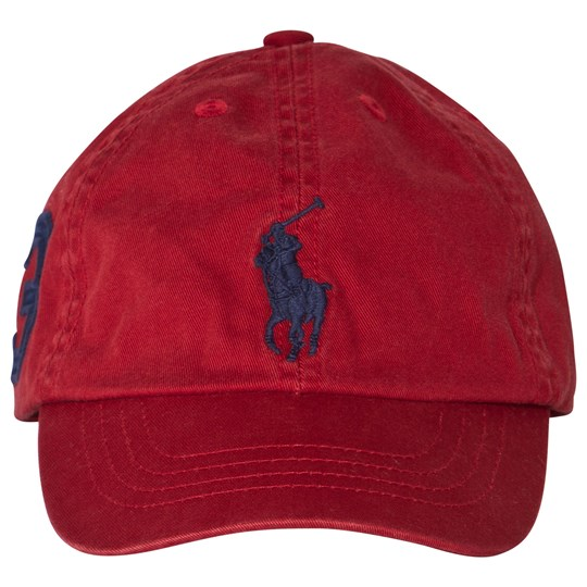 Ralph Lauren Big Pony Chino Baseball Cap Camden Red Camden Red