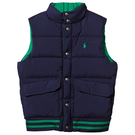 Ralph Lauren Reversible Quilted Down Vest French Navy Billiard/french Navy