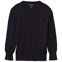 Ralph Lauren Wool Crew Neck Hunter Navy Hunter Navy