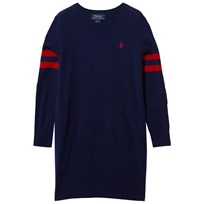 Ralph Lauren Wool Long Sleeve Sweater Dress New Navy