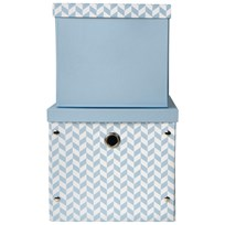 Vinter & Bloom Herringbone Storage Boxes Alaskan Blue голубой