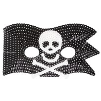 RICE A/S Kids Cool Pirate Sequin Mask 6-pack черный