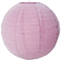 RICE A/S Small Round Lampshade Pink Lurex Rosa