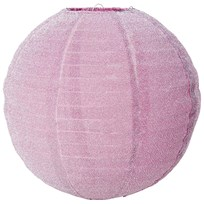 RICE A/S Small Round Lampshade Pink Lurex Pink
