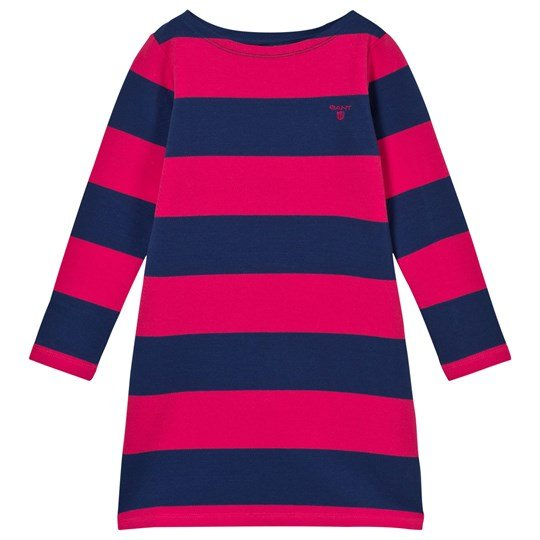GANT Blockstriped Dress Navy/Cerise Navy/Cerise