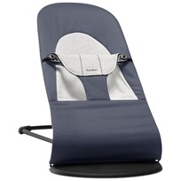Babybjörn Bouncer Balance Soft Fog Blue/ Grey Cotton Jersey Dimblå/Grå