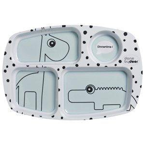 Done by Deer Happy Dots Compartment Plate Blue