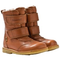 Bisgaard TEX Leather Boots Wool lining Cognac 502 Cognac