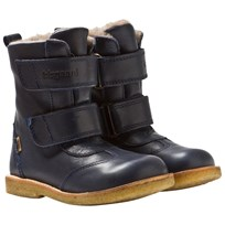 Bisgaard TEX Leather Boot Wool Blue 602 Blue