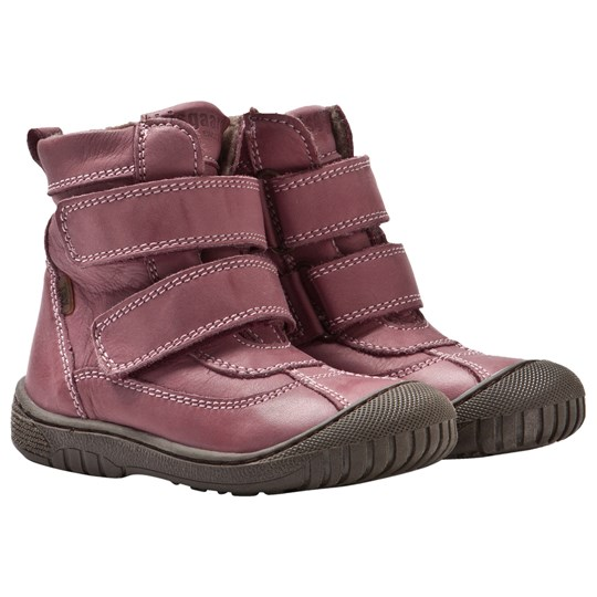 Bisgaard TEX Boots with Wool lining and Velcro Rose 700 Rose