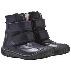Bisgaard TEX Boots with Wool lining and Velcro Blue