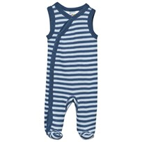Joha Striped Footed Baby Body Blue Stripe Blue