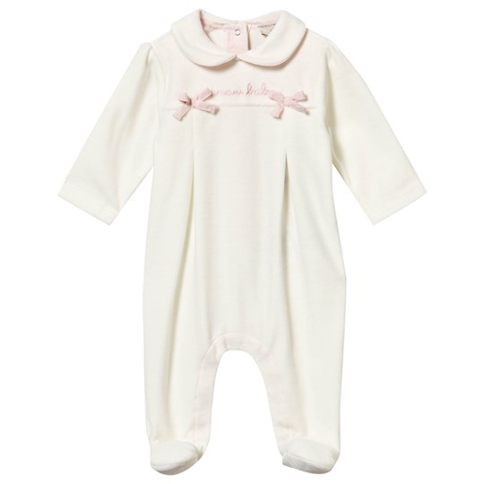 Emporio Armani Footed Baby Body Bianco Latte Bianco Latte