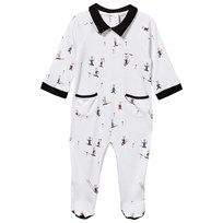 Livly Collar Footed Baby Body Boy Skii Bunny boy skii bunny