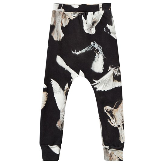 Popupshop Baggy Leggings Black Birds Black Birds