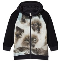 Popupshop Hoodie with Zipper Siamese Cat Siamese Cat