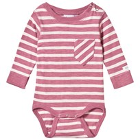 eBBe Kids Almond Baby Body Puderrosa/Offwhite Randig Dusty pink /offwhite stripe